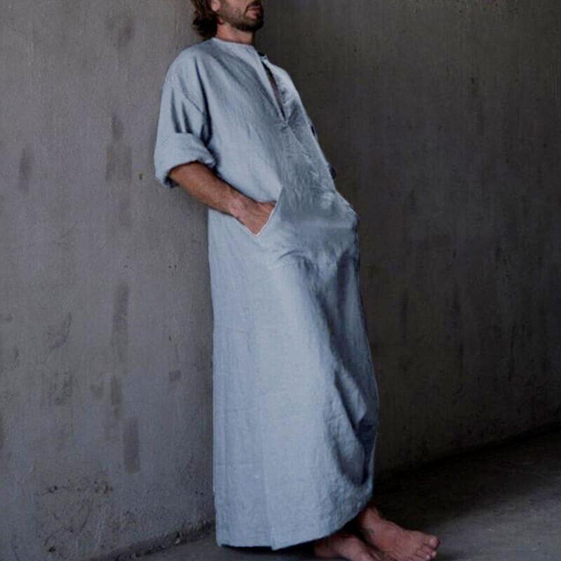 qamis homme manche longue de dos muslim mine