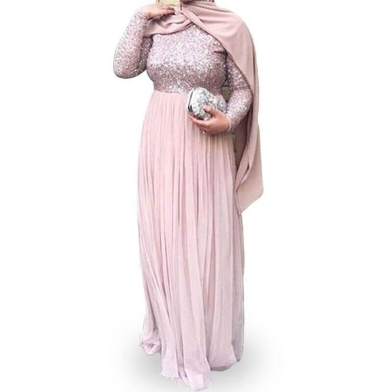 robe de soirée muslim mine