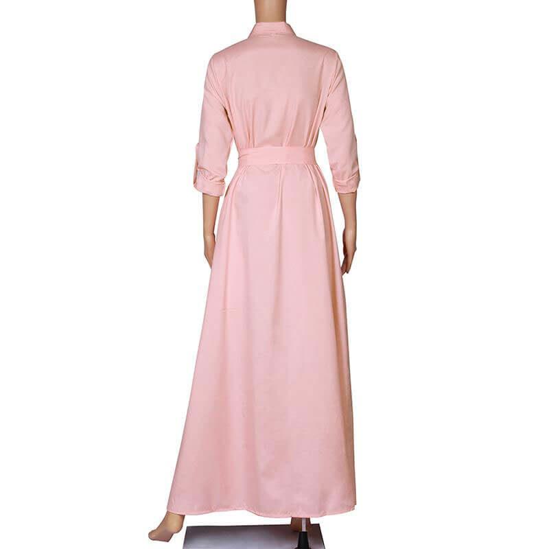 robe longue musulmane de dos muslim mine