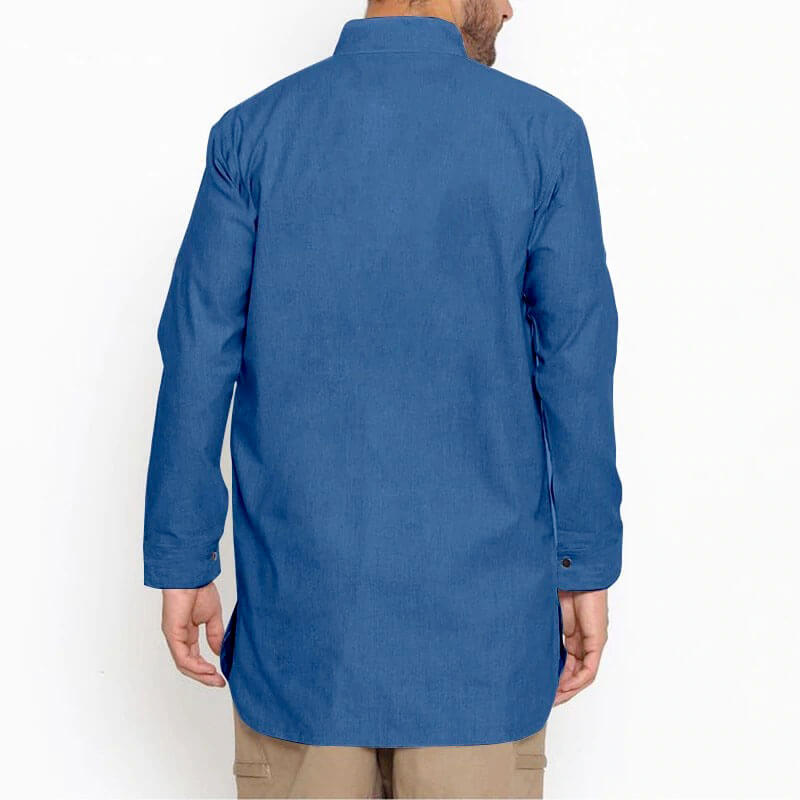 chemise longue homme de dos muslim mine