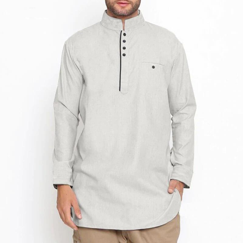 chemise longue homme muslim mine