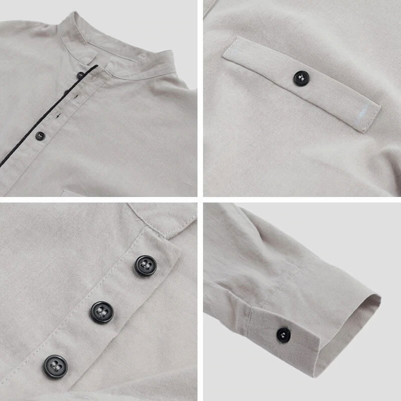 detail chemise longue homme muslim mine