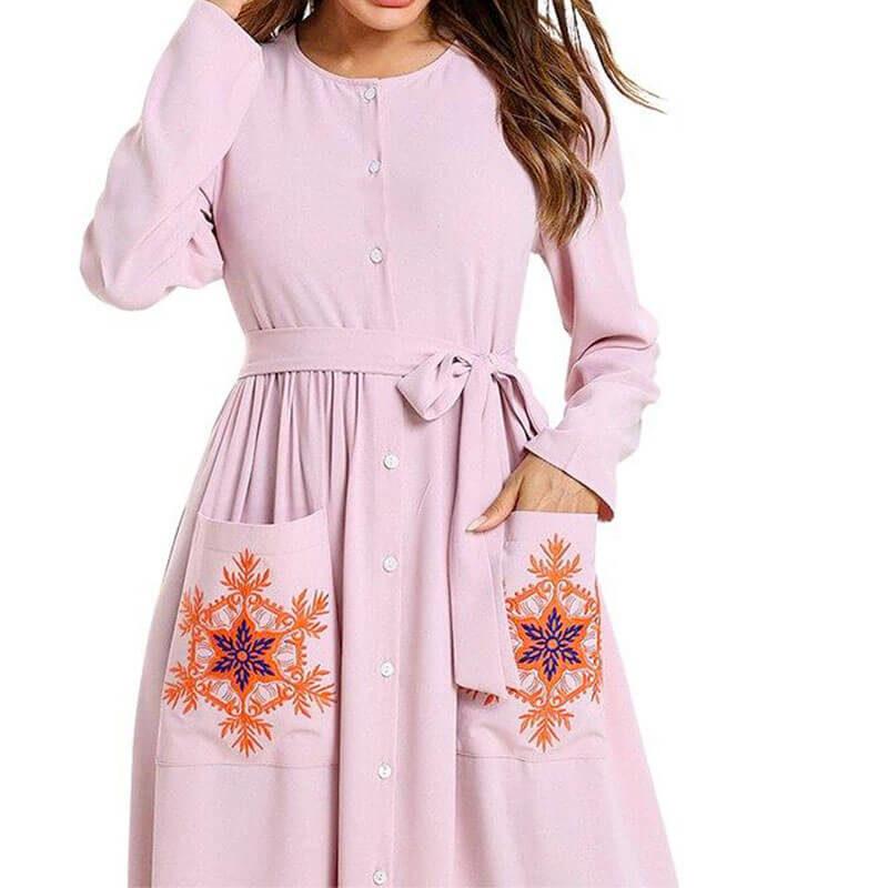 detail robe maternite chic muslim mine