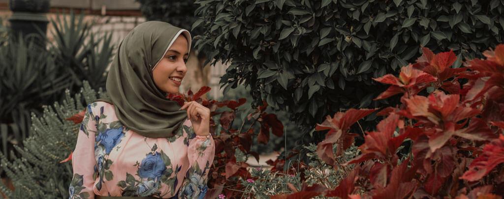 femme musulmane dans jardin Muslim Mine