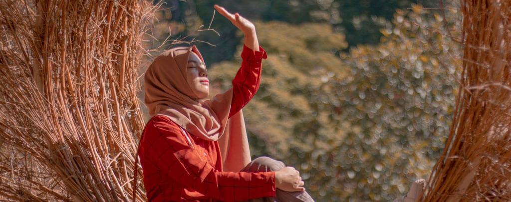 femme musulmane se protège Muslim Mine