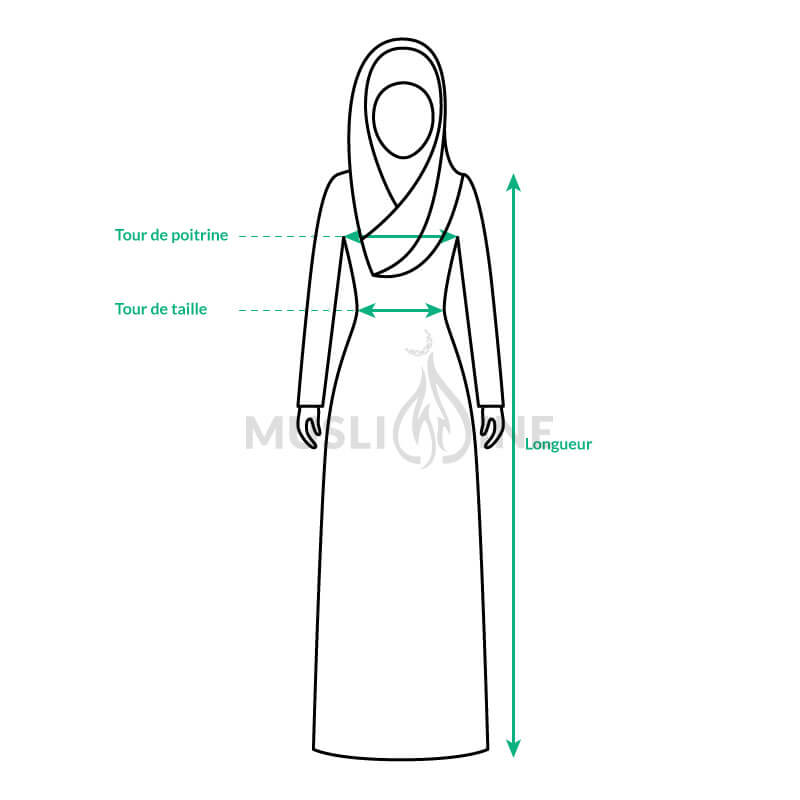 guide de taille abaya femme muslim mine