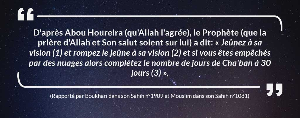 hadith jeûne Muslim Mine