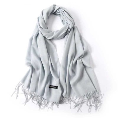 hijab effet cachemire gris clair muslim mine