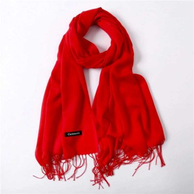 hijab effet cachemire rouge muslim mine