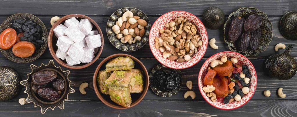 table de l'iftar ramadan Muslim Mine