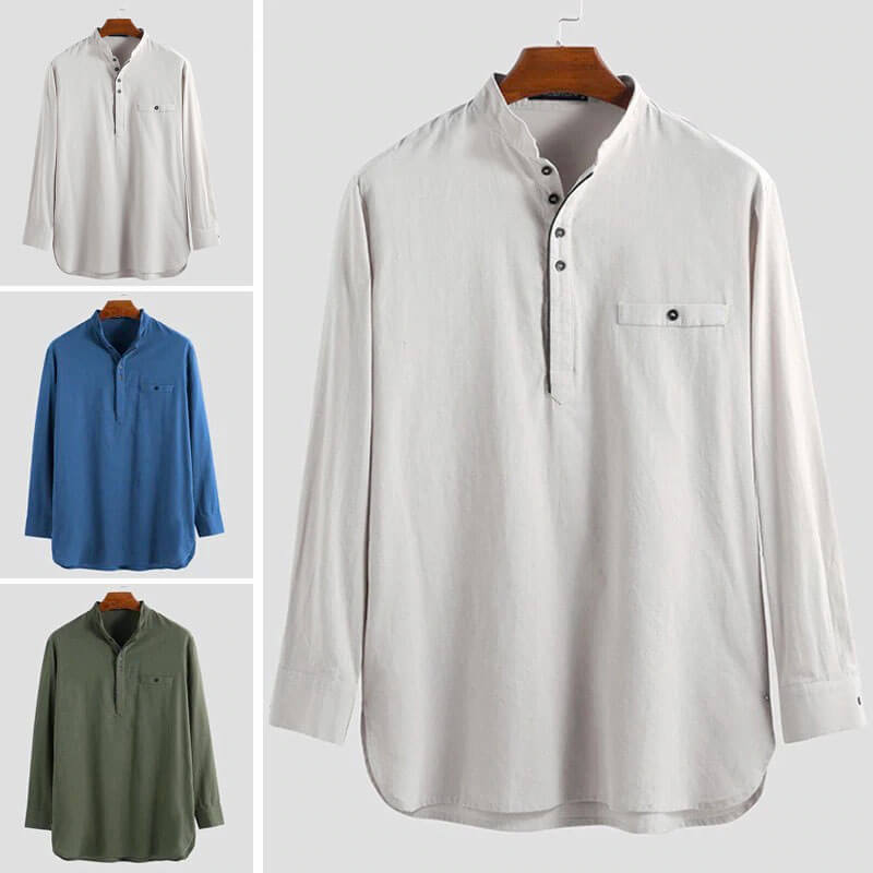 modeles chemise longue homme muslim mine