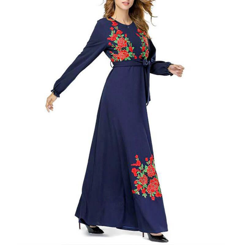 robe allaitement habillée brodée muslim mine