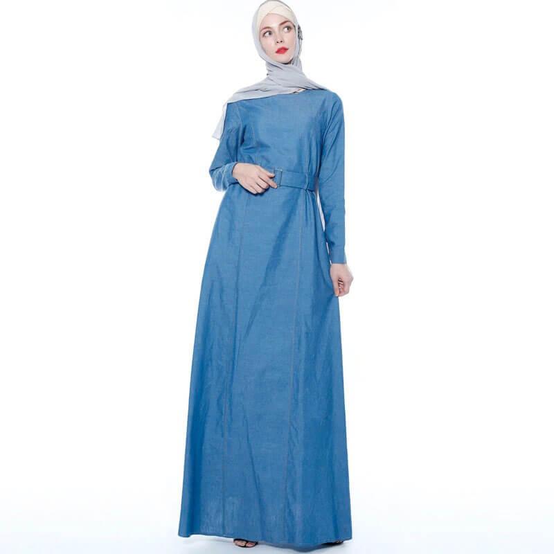 robe longue en jean muslim mine