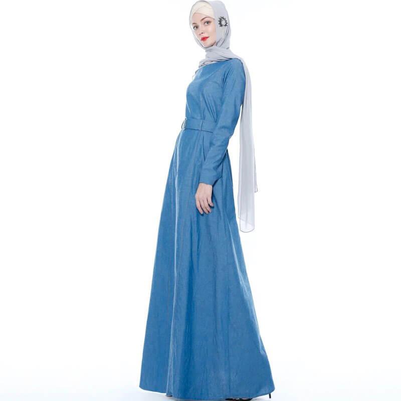 robe longue en jean musulmane muslim mine