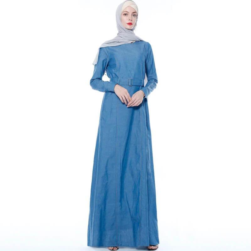 robe longue jean pour femme musulmane