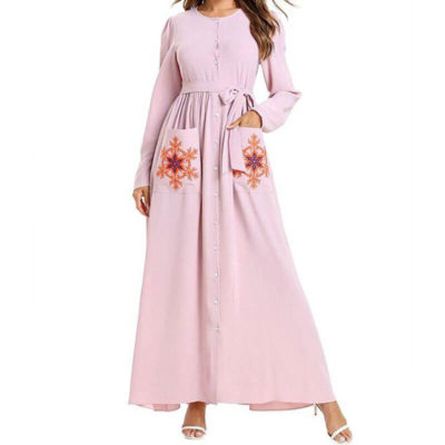 robe maternité chic flocons broderie muslim mine