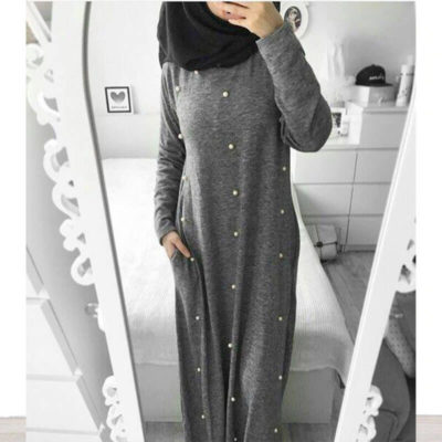 robe pull gris fonce muslim mine