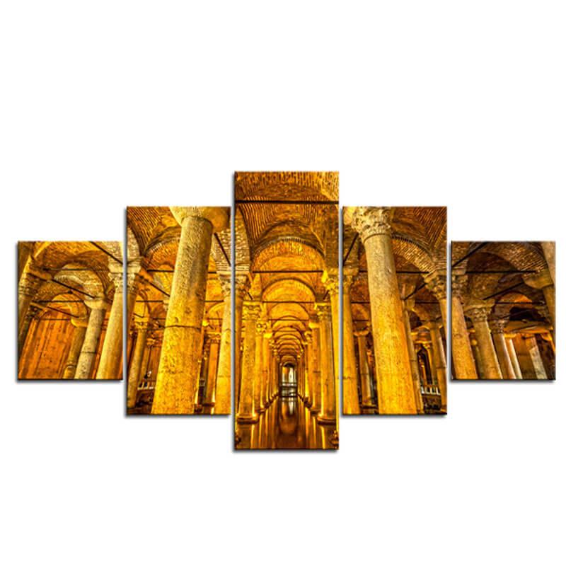 tableau citerne basilique istanbul muslim mine