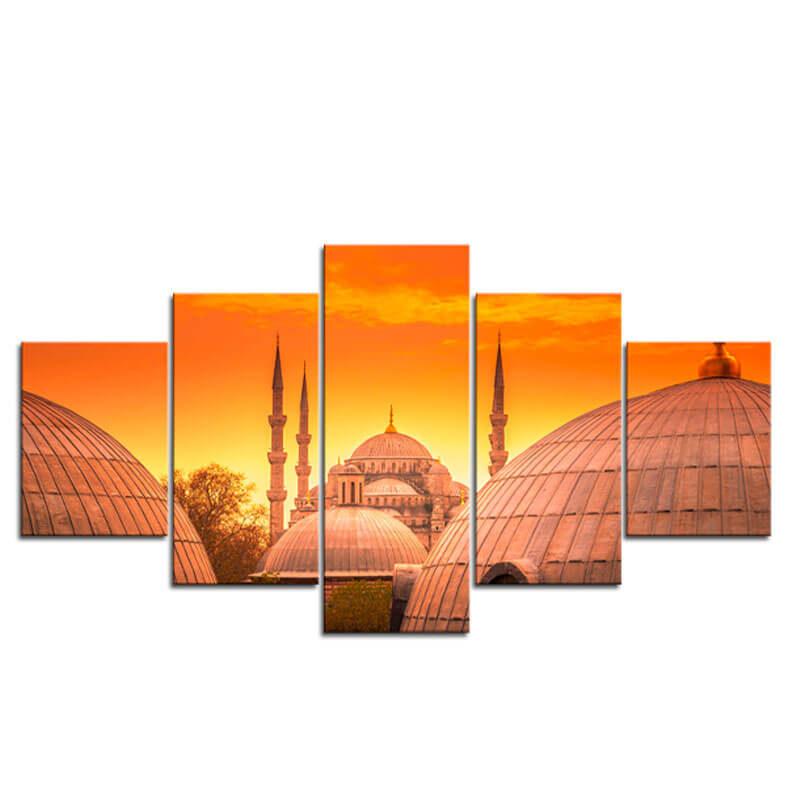tableau mosquée bleue turquie muslim mine