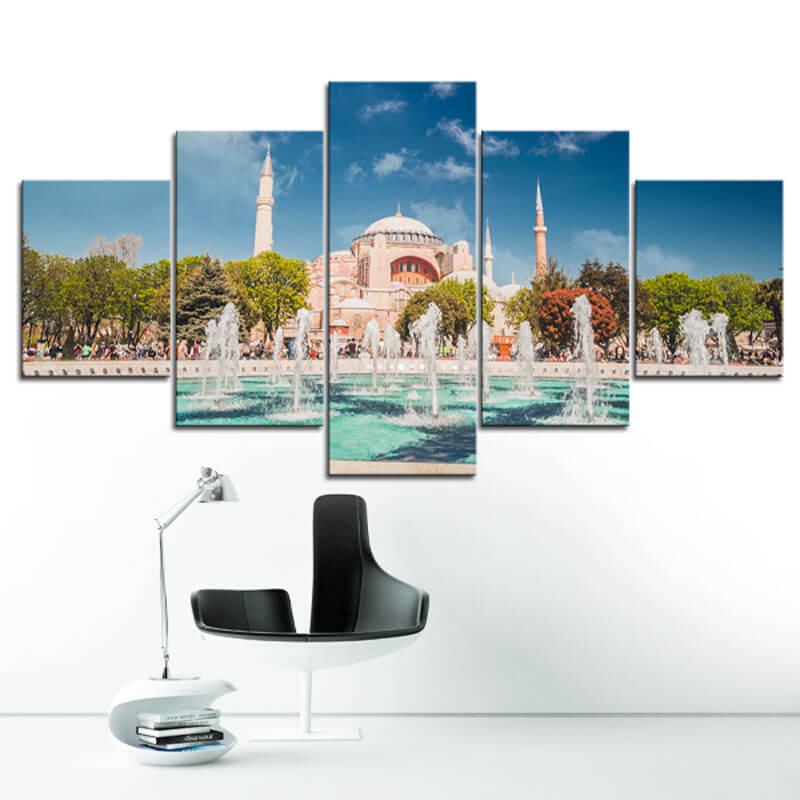 tableau mosquee istanbul muslim mine