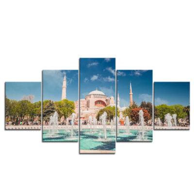 tableau mosquee istanbul turquie muslim mine