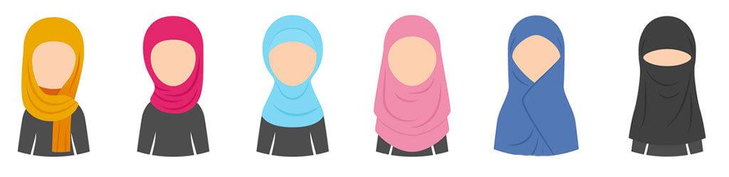 types de Hijab muslim mine