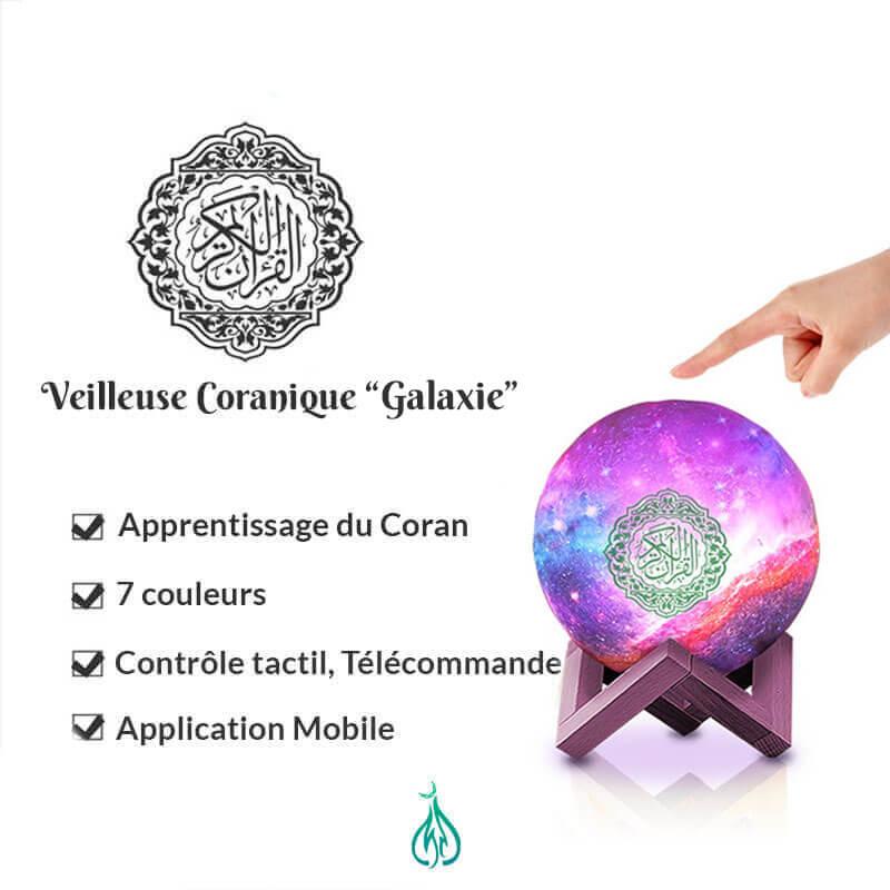 caractéristique veilleuse coranique galaxie muslim mine