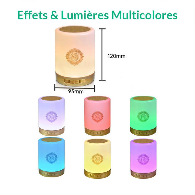 couleurs lampe coranique muslim mine
