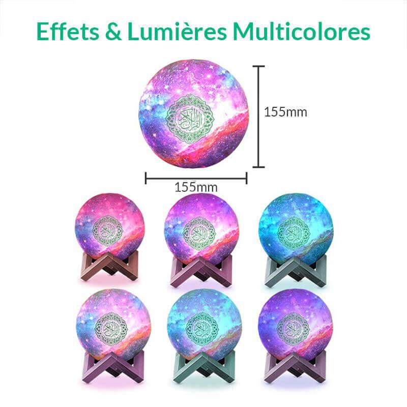 couleurs veilleuse coranique galaxie muslim mine