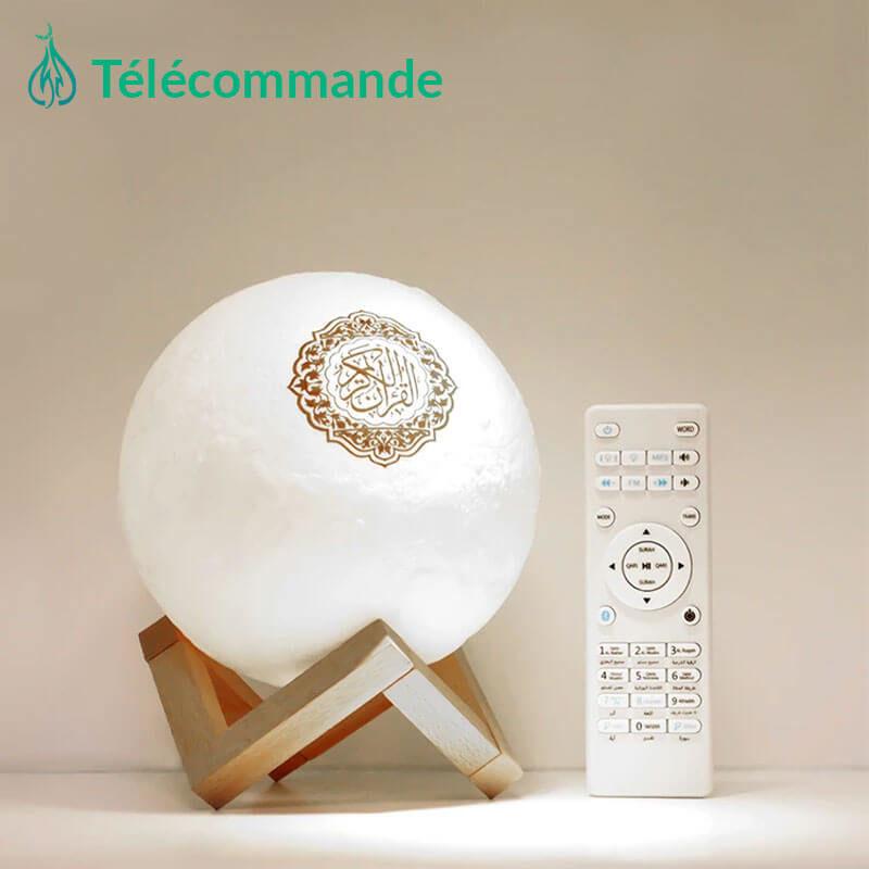 veilleuse coranique lune avec telecommande muslim mine