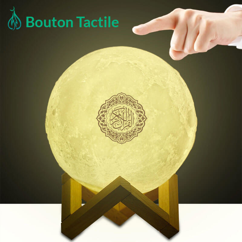 veilleuse coranique lune tactile muslim mine