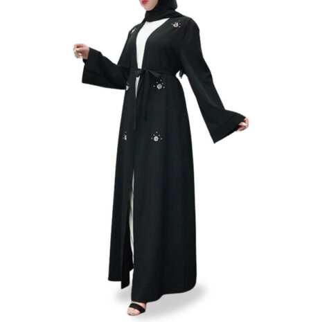 abaya cardigan diamant muslim mine