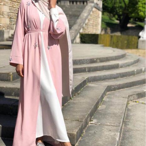 abaya femme cardigan diamant muslim mine