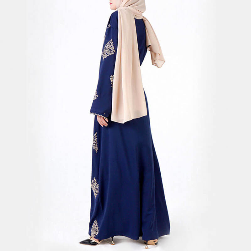 abaya kimono broderie doree muslim mine