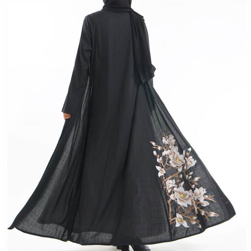 abaya kimono en lin muslim mine