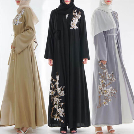 abaya kimono pas cher muslim mine