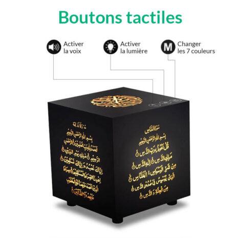 boutons tactiles cube coranique muslim mine