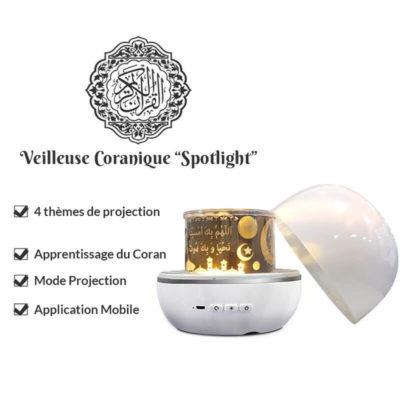caractéristique veilleuse coranique projecteur muslim mine