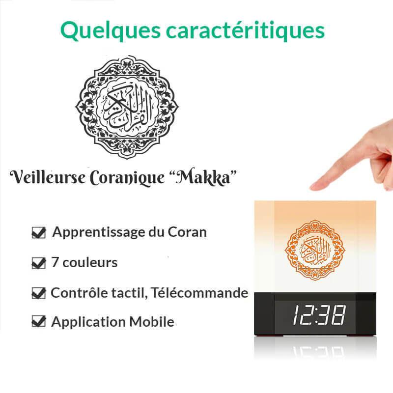 caractéristiques veilleuse coran makka muslim mine