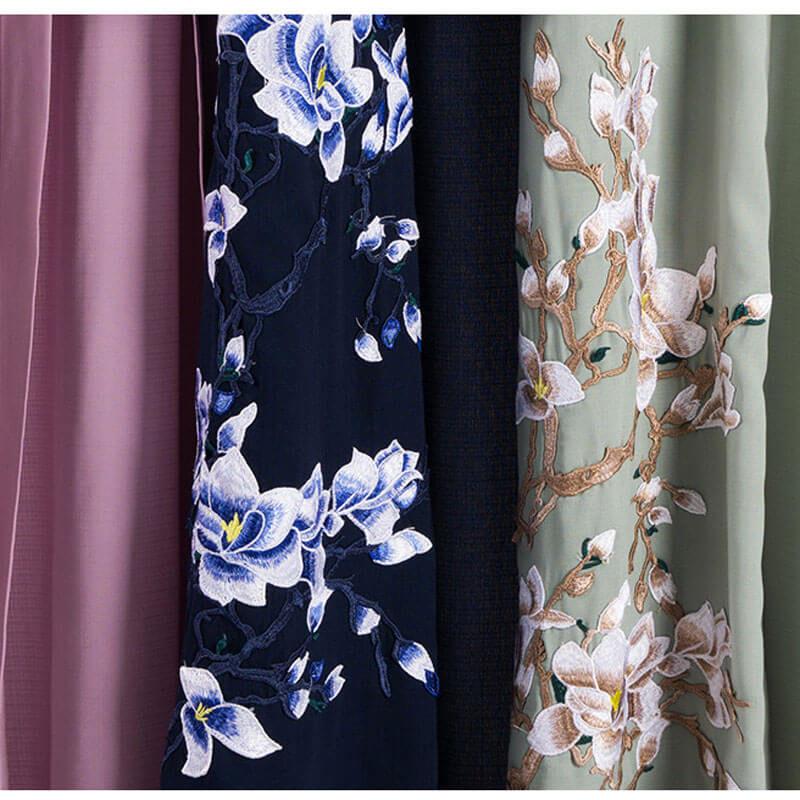 detail bas abaya kimono fleuri muslim mine
