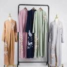 modèles abaya kimono fleuri muslim mine
