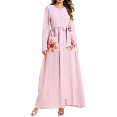 Robe Maternité Chic Flocons Muslim Mine