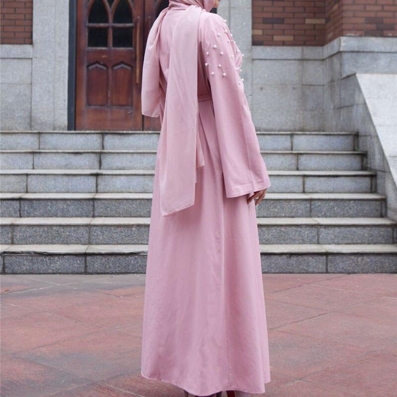abaya perlée de dos muslim mine