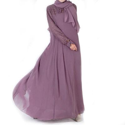 robe musulmane dentelle muslim mine
