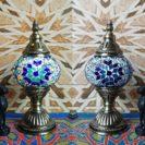 lampe turque gul bleu muslim mine