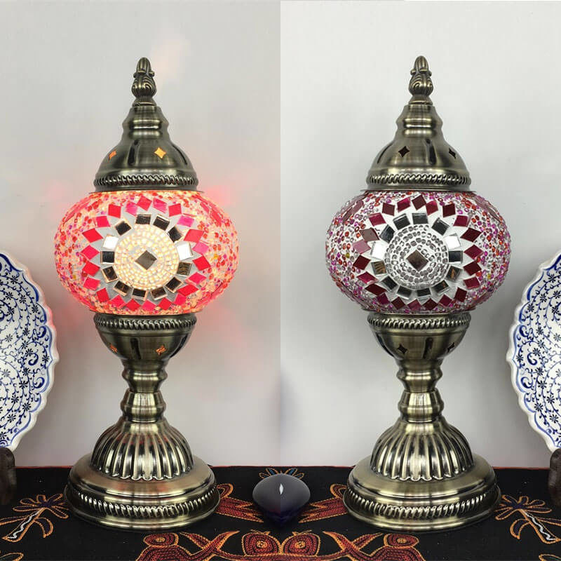 lampe turque gunes rose mosaïque muslim mine