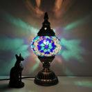 lampe turc marocaine bleu muslim mine