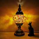 lampe turque star allumée nuit muslim mine