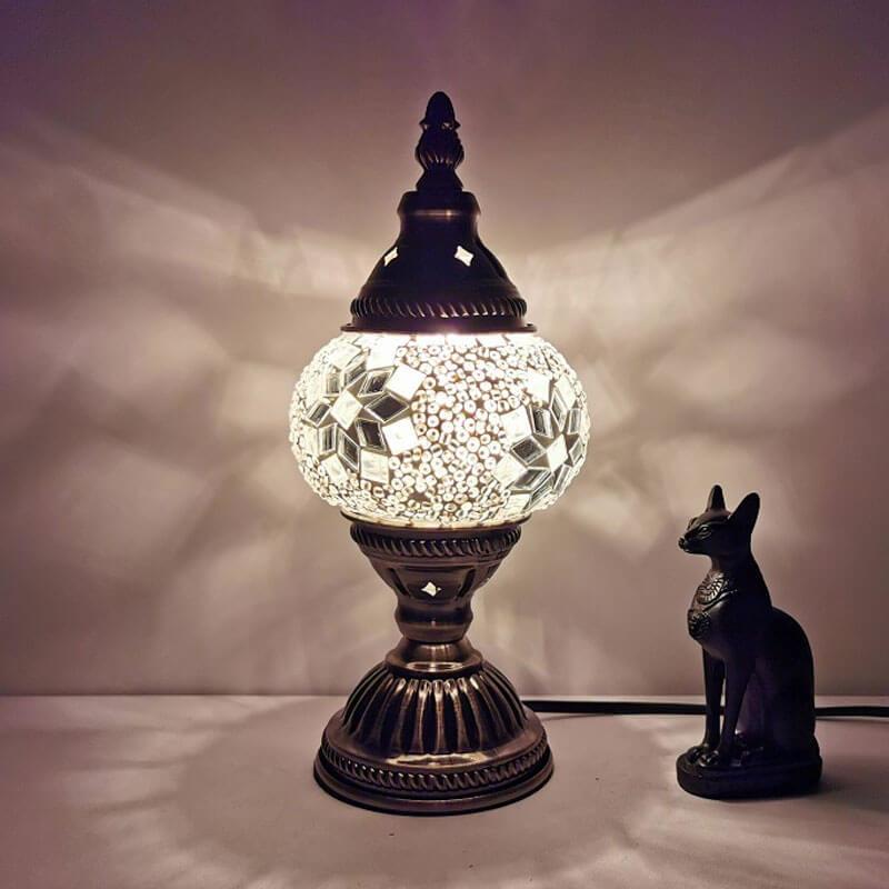 lampe turque star blanche muslim mine