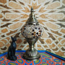lampe turque mosaïque éteinte journee muslim mine